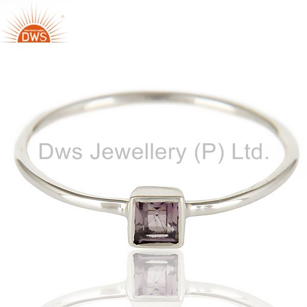 Suppliers Stunning 925 Sterling Silver Handmade Amethyst Gemstone Stackble Ring Jewelry