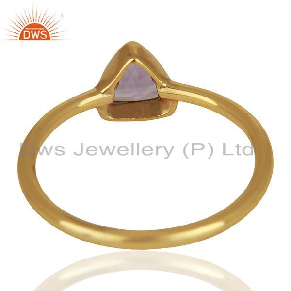 Suppliers February Birthstone Amethyst Gold Plated 925 Silver Gift Rings Jewelry