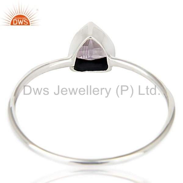 Suppliers Natural Amethyst Gemstone Stackable 925 Sterling Silver Ring Jewelry