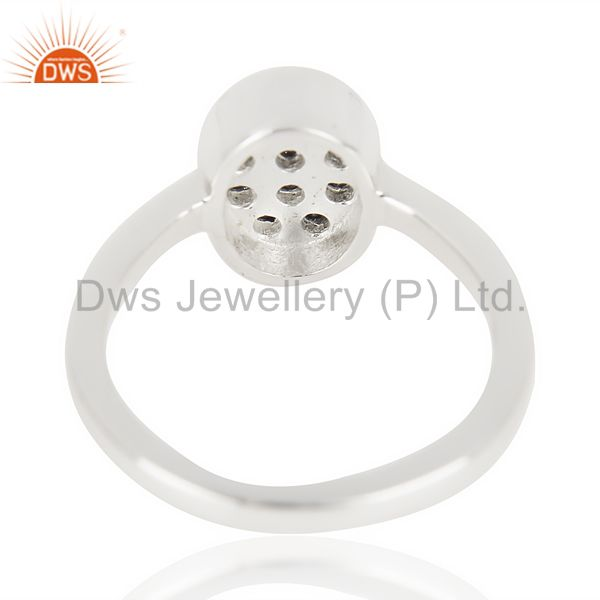 Suppliers Black Zircon Oval Shape 92.5 Sterling Silver Solid Ring