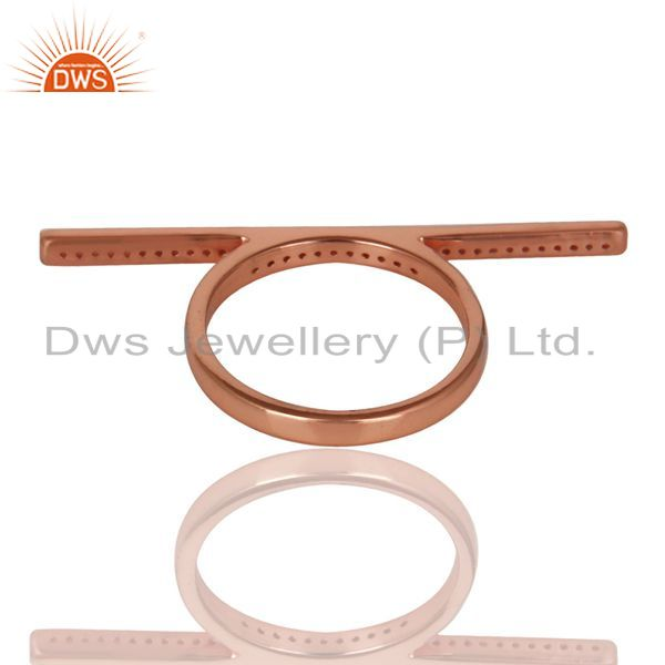 Suppliers CZ Knuckle 14K Rose Gold Plated 925 Sterling Silver Ring Personalized Jewelry