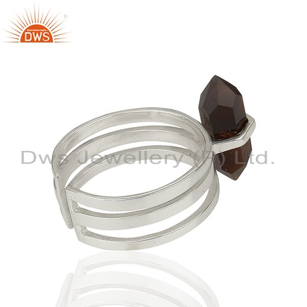 Suppliers Black Onyx Wide Horn Adjustable Openable 92.5 Sterling Silver Ring