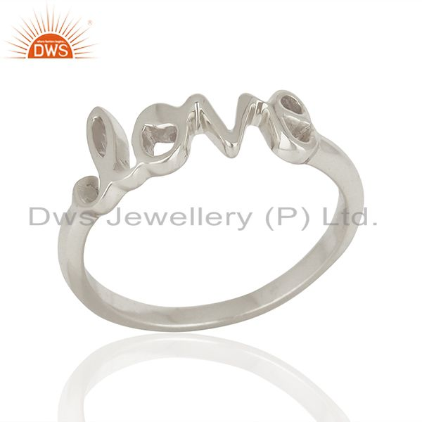 Suppliers Initial Love Customized 925 Sterling Fine Silver Ring Manufacturer