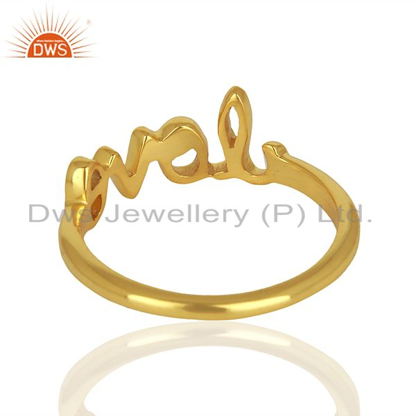 Suppliers Initial Love Customized Gold Plated 925 Silver Ring Manufacturer