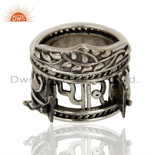 Suppliers 925 Silver Oxidized Antique Designer Wedding Rings Jewelry Supplier