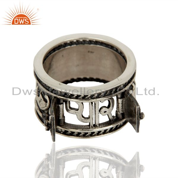 Suppliers Handmade Oxidized Antique Silver Engagement Rings Manufacturer
