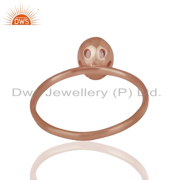 Suppliers Peridot 925 Sterling Silver Rose Gold Plated Stack Rings Gemstone Jewellery