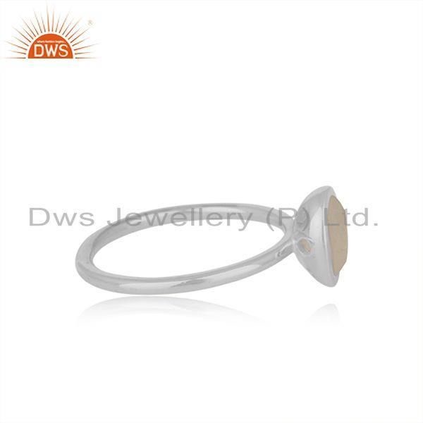 Suppliers Rainbow Moonstone Man Made Sterling Fine Silver Girls Rings Supplier