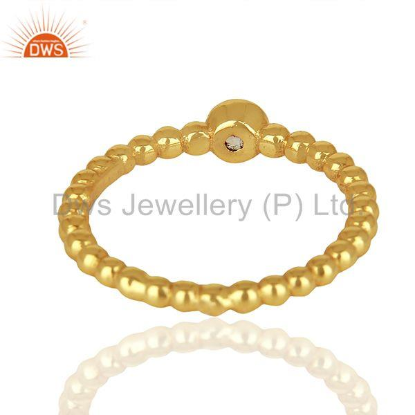 Suppliers Rainbow Moon Stone Bubble Band Sterling Silver Yellow Gold Plated Ring