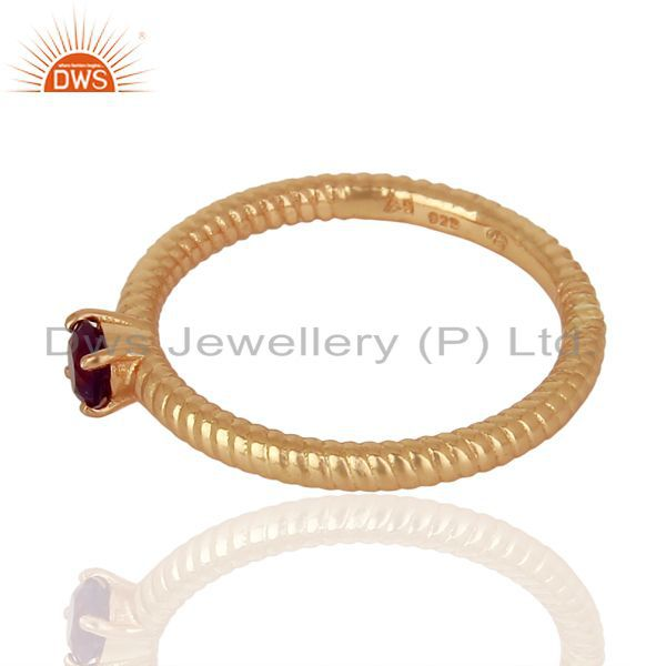 Suppliers Amethyst Twist Band 925 Sterling Silver Rose Gold Plated Ring Gemstone Jewellery