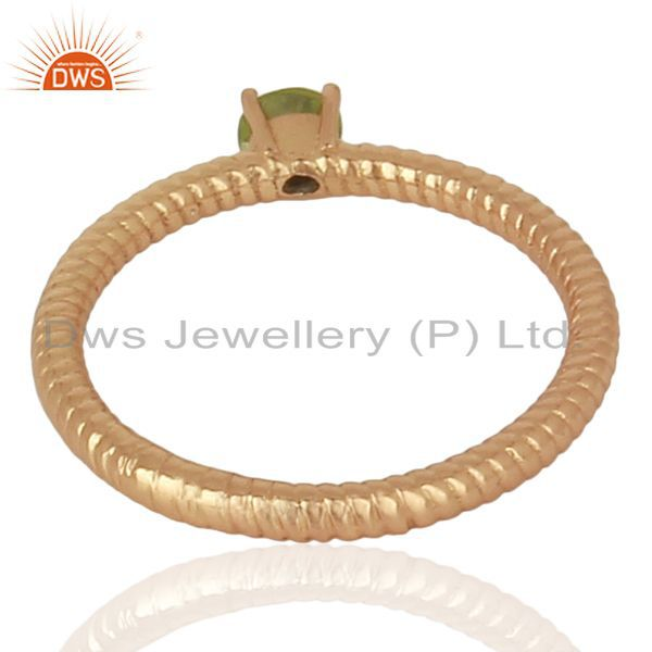 Suppliers Peridot Twist Band 925 Sterling Silver Rose Gold Plated Ring Gemstone Jewellery