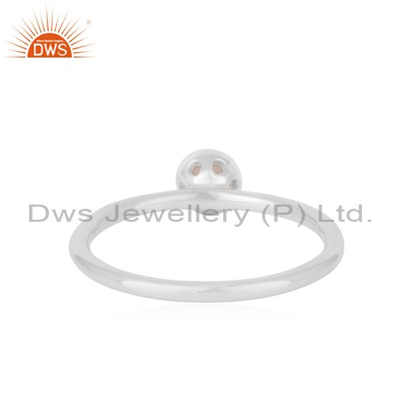 Suppliers Handmade Sterling Silver Rose Chalcedony Gemstone Ring Supplier