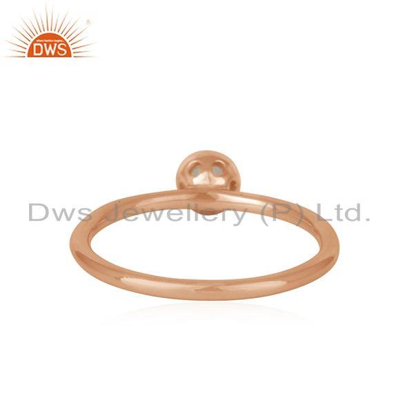 Suppliers Rainbow Moonstone Rose Gold Plated 925 Silver Rings Manufacturer