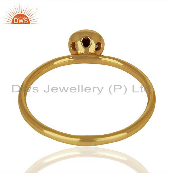 Suppliers Rainbow Moonstone Gold Plated 925 Silver Gemstone Ring Jewelry