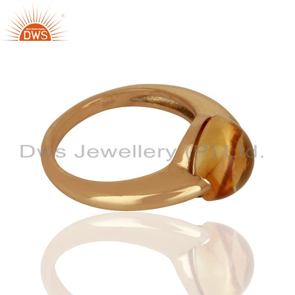 Suppliers Citrine Eye of the Beholder Tension Sterling Silver Rose Gold Plated  Rings