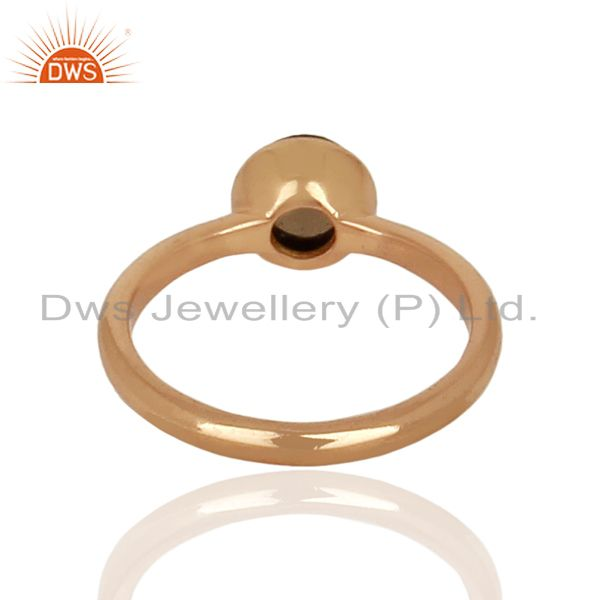 Suppliers Smoky Topaz 925 Sterling Silver Rose Gold Plated Stack Rings Gemstone Jewellery
