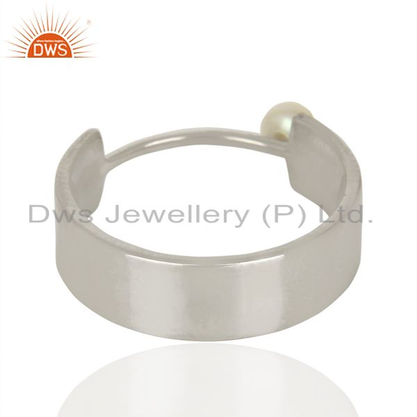 Suppliers Sterling Fine Silver Pearl Gemstone Band Ring Jewelry Manufacturer