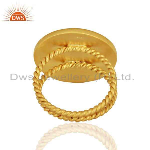 Suppliers Designer Handcrafted Gold Plated Silver Fashion Ring Jewelry Supplier