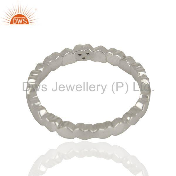 Suppliers White Topaz Heart Shape 925 Sterling Silver Band Ring Jewelry