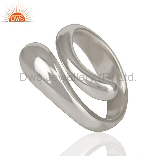 Suppliers Stylish And Curvy Snake 92.5 Sterling Silver Ring Wholesale Jewelry
