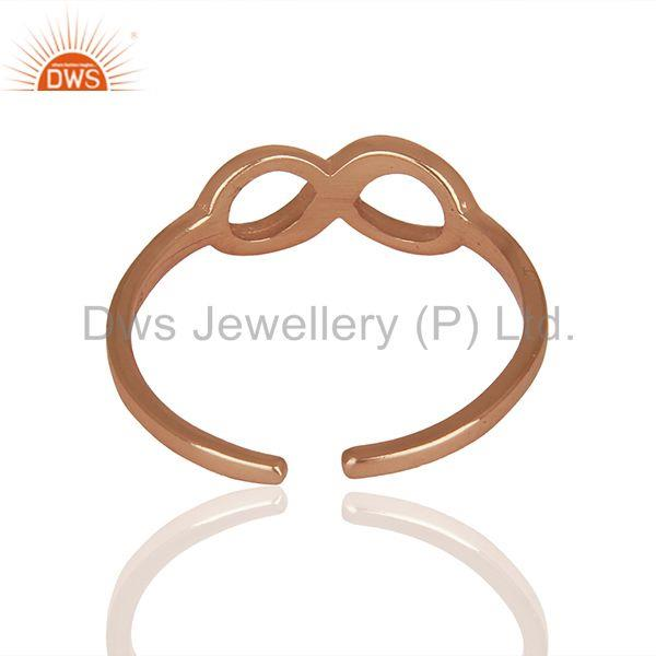 Suppliers Google Design Rose Gold Plated Sterling Silver Rings Manufacturer