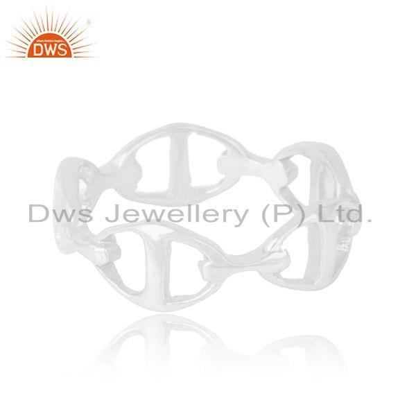 Suppliers Chaine d Ancre Enchainee 92.5 Sterling Silver Ring Wholesale Jewelry