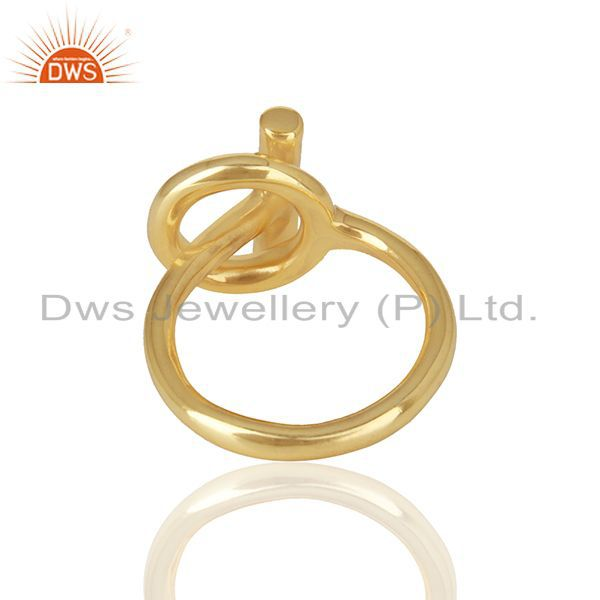 Suppliers Customized 925 Silver Gold Plated Unisex Rings Jewelry Manufacturer