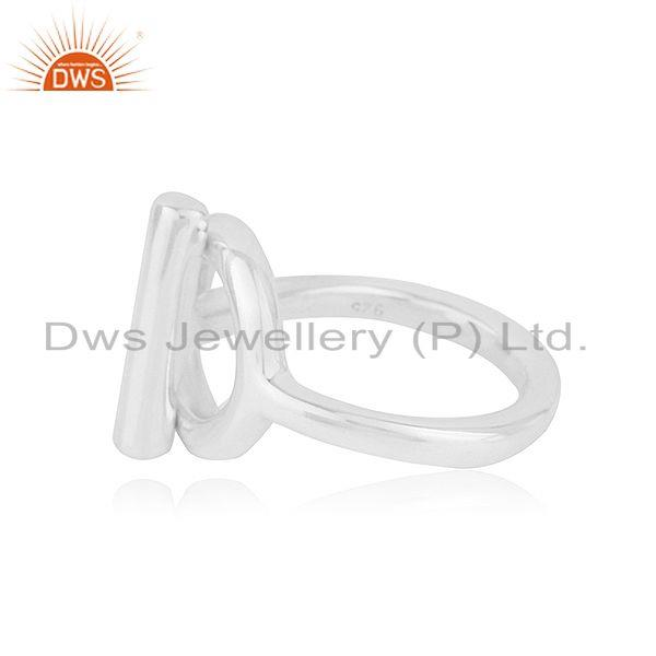 Suppliers Handmade 925 Sterling Silver Fine Silver Designer Ring Wholesale Suppliers India