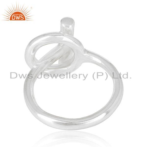 Suppliers Spi 925 Sterling Silver White Rhodium Plated Ring Wholesale Jewelry
