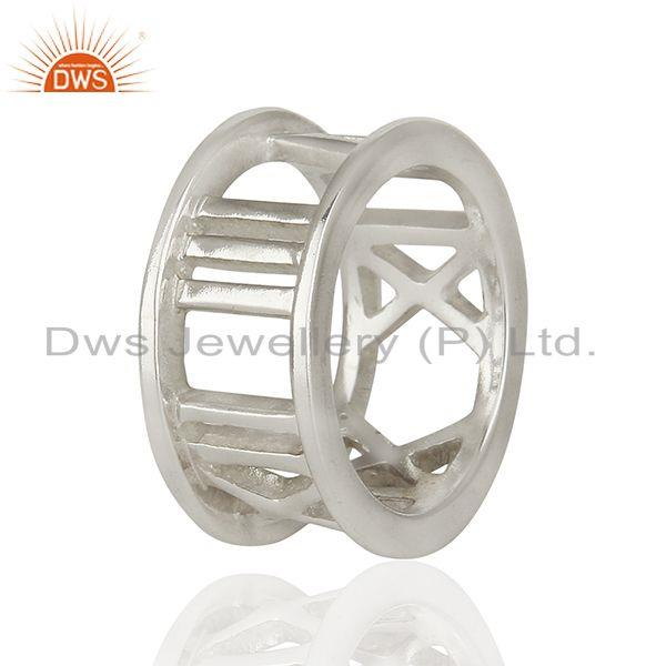 Suppliers Designer Style Roman Numeral 925 Sterling Silver Ring Wholesale Jewelry