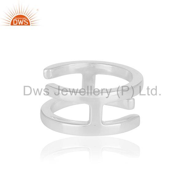 Suppliers H Eternity 925 Sterling Silver Ring Band Silver Jewelry Manufacturer