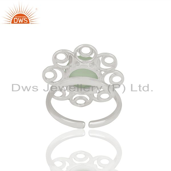 Best Quality 925 Silver Cocktail Gemstone Rings Custom Jewelry Manufacturer