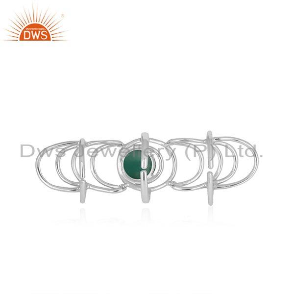 Top Quality Green Onyx Gemstone 925 Sterling Silver Knuckle Ring Manufacturer