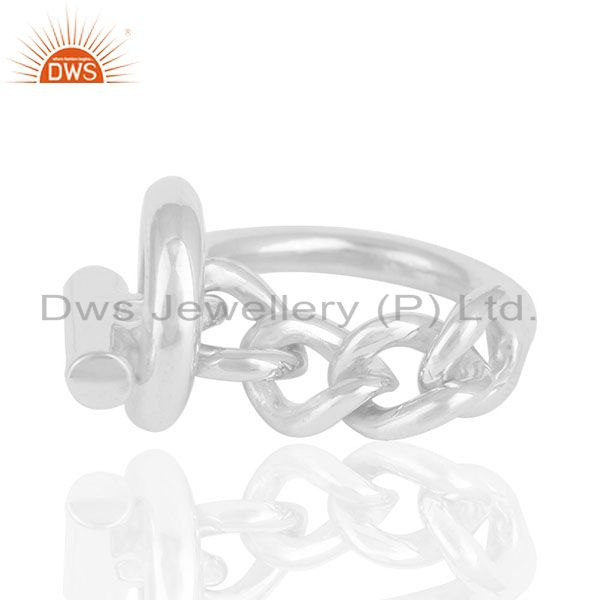 Suppliers Customized 925 Sterling Silver Unisex Ring Jewelry Manufacturers