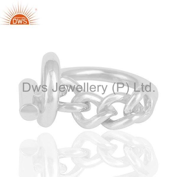 Suppliers Fine Sterling Silver 2017 Designer Girls Rings Jewelry Manufacturers