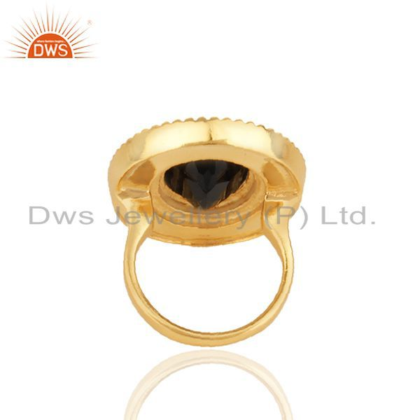 Suppliers Indian Traditional Gold Plated 925 Silver Customized Ring Manufacturer