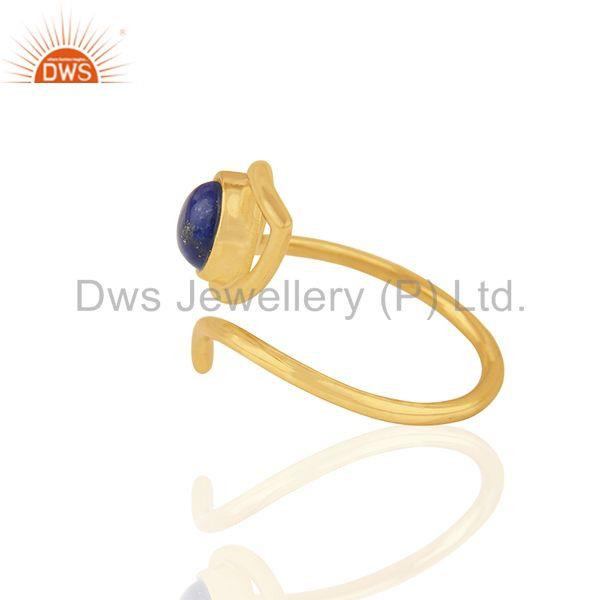Suppliers 2017 New Evil Eye Design Gold Plated 925 Silver Gemstone Ring Supplier
