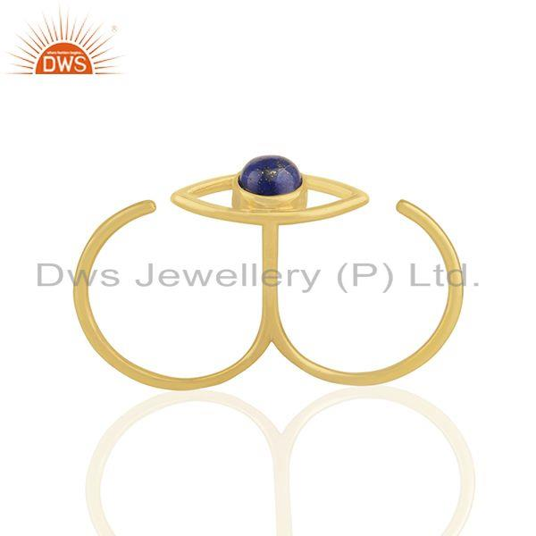 Suppliers Handmade 18k Gold Plated 925 Silver Evil Eye Design Multi Finger Ring