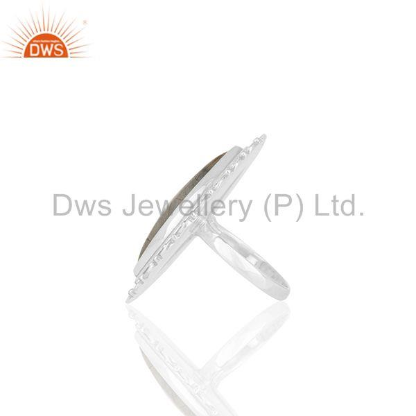 Suppliers Rainbow Moonstone Oxidized 925 Silver Custom Ring Manufacturer from India