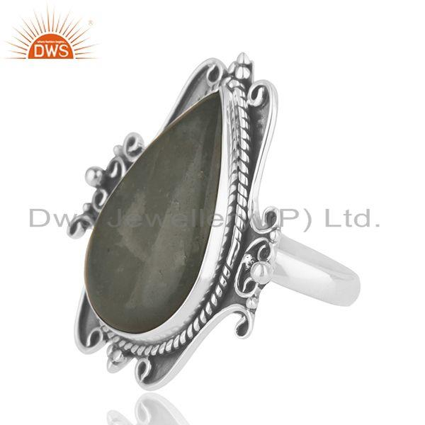 Suppliers Manufacturer Sterling Silver Oxidized Aquamarine Gemstone Ring Jewelry