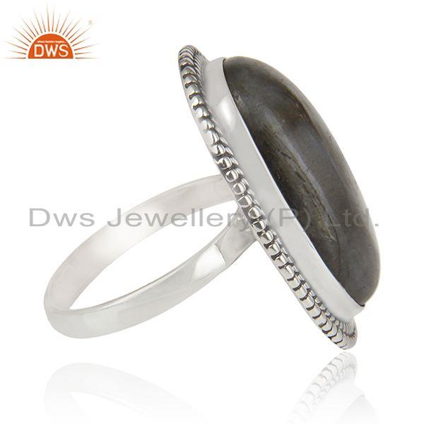 Suppliers Labradorite Gemstone Oxidized Sterling 925 Silver Cocktail Ring Manufacturer