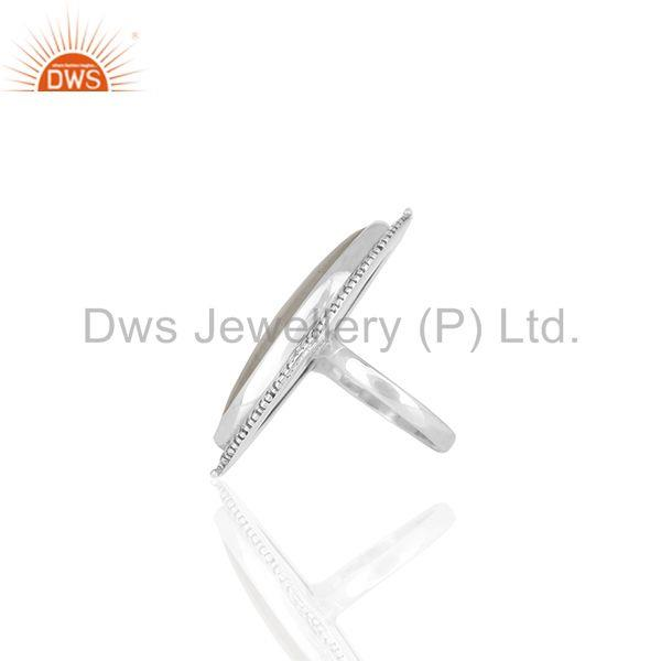 Suppliers Antique 925 Sterling Silver Moonstone Cocktail Rings Manufacturer from India