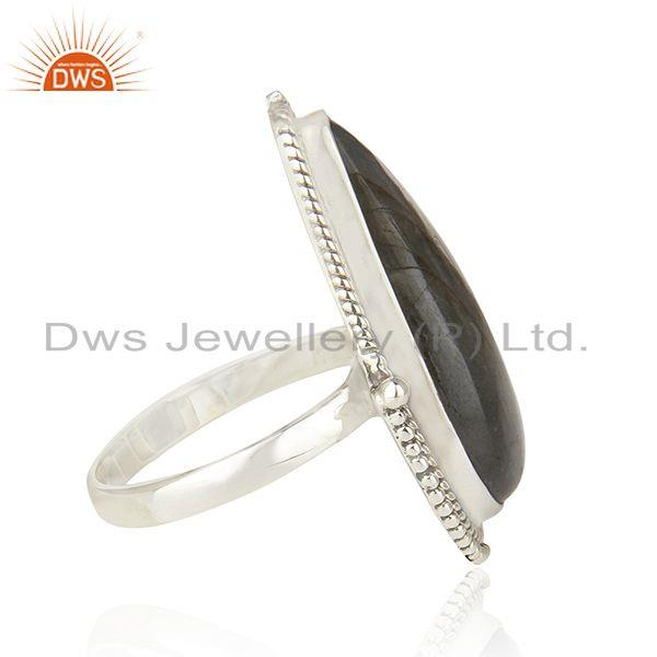 Suppliers Labradorite Gemstone 925 Sterling Silver Oxidized Statement Ring Manufacture