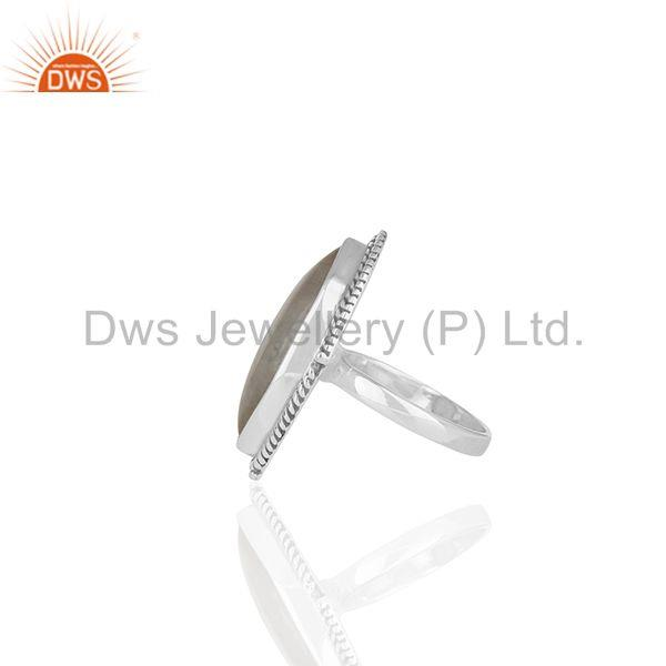 Suppliers Rainbow Moonstone 925 Silver Oxidized Antique Ring Jewelry Wholesale