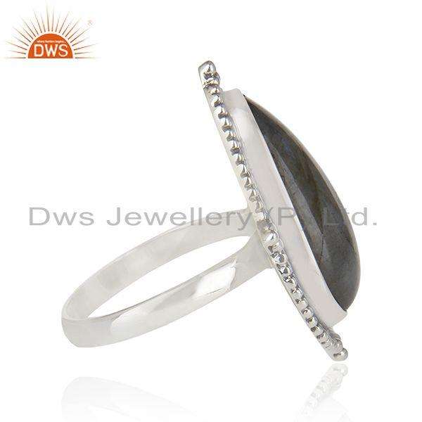 Suppliers Labradorite Gemstone Oxidized 925 Sterling Silver Statement Ring Manufacturer