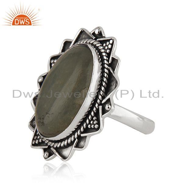 Suppliers Manufacturer Oxidized Silver Aquamarine Gemstone Ring Jewelry