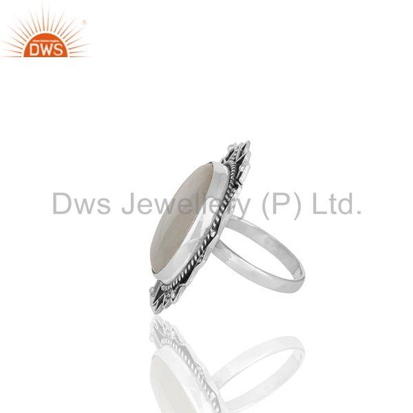 Suppliers Oxidized Sterling Silver Ranibow Moonstone Cocktail Rings Manufacturer