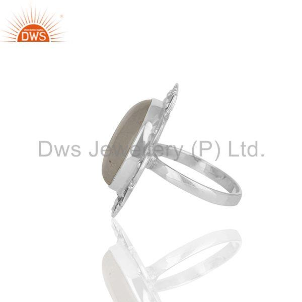 Suppliers Designer 925 Silver Rainbow Moonstone Cocktail Customized Ring Manufacturer