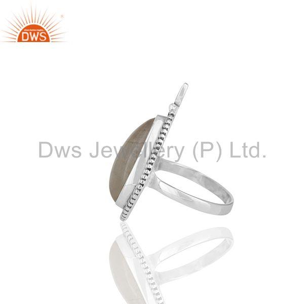 Suppliers Rainbow Moonstone 925 Silver Cocktail Rings Manufacturer of Jewelry