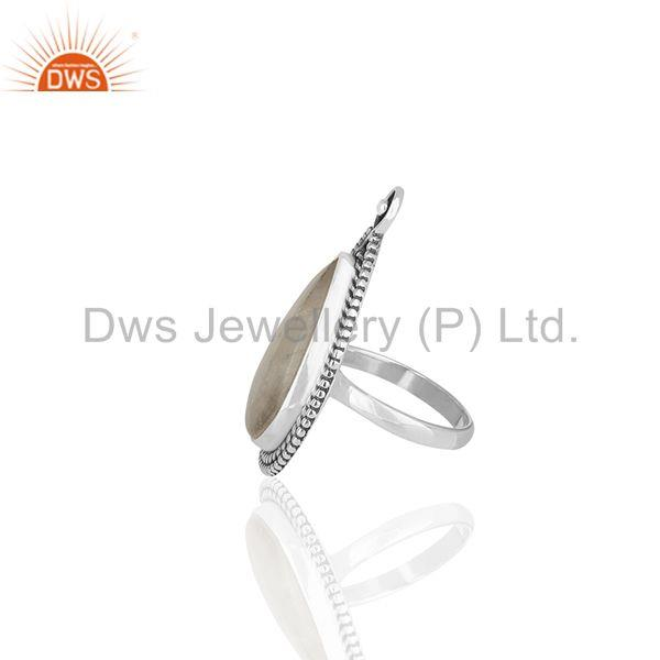 Suppliers Rainbow Moonstone Oxidized 925 Silver Women Ring Manufacturers